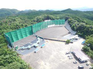 【GXW-410】鳥取クレー射撃場の鉛弾飛散防止ネットの昇降用